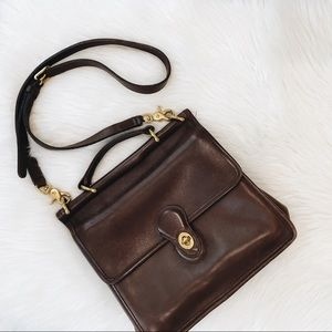 Vintage Coach Willis Bag 90s Chocolate Brown